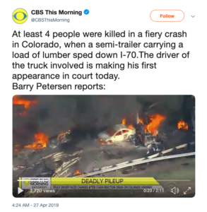 Tweet from CBS This Moring